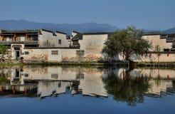 Xidi en liten forntida by i det Anhui landskapet i Kina nära de gula bergen Fotografering för Bildbyråer