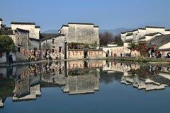 Xidi en liten forntida by i det Anhui landskapet i Kina nära de gula bergen Royaltyfri Bild