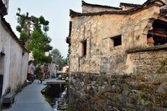 XIDI, prowincja anhui, PORCELANOWY †OKOŁO PAŹDZIERNIK 2017 ': Antyczna wioska Xidi w Anhui pro, Zdjęcie Stock