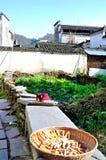 Xidi Village drying sweet potato Royalty Free Stock Photography