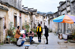 In Xidi village of painting Royalty Free Stock Image