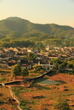Xidi village panorama. China`s rural landscape, and villages,anhui.xidi village it was made a unesco world heritage site in 2000 Stock Image