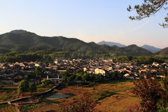 Xidi village panorama. China`s rural landscape, and villages,anhui.xidi village it was made a unesco world heritage site in 2000 Royalty Free Stock Photo