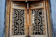 Xidi Village window Royalty Free Stock Image