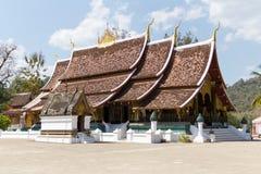 xieng för wat för thong för laos luangprabang Arkivfoto