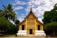 xieng för wat för thong för tempel för pra för smälllaos luang Royaltyfria Bilder