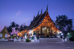 Xieng Thong temple. Temple in Luangprabang. Show the beauty of the architecture Laos Stock Photo
