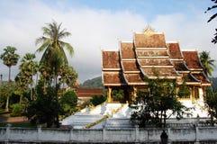 Xiengthong寺庙在Loas的琅勃拉邦市 免版税库存照片