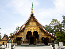 Xiengthong-Tempel Stockfoto