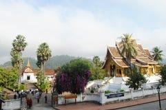 Xiengthong tempel i den Luang Prabang staden på Loas Royaltyfria Bilder