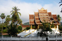 Xiengthong Temple in  Luang Prabang City at Loas Royalty Free Stock Photo