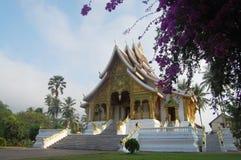 Xiengthongtempel in de Stad van Luang Prabang in Loas Stock Afbeelding