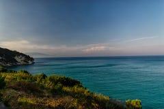 Xigia海滩的美好的全景 免版税库存图片