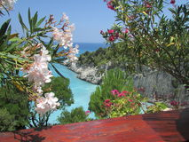 Xigia海滩,扎金索斯州,希腊 库存照片