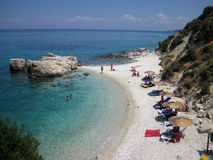 Xigia beach, East coast of Zakynthos island Royalty Free Stock Image