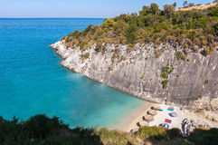 Xigia beach with a sulphur and collagen spring Royalty Free Stock Image