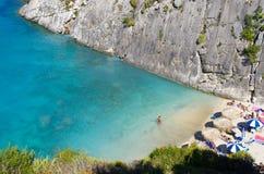 Xigia beach on Zakynthos island, Greece Stock Photos