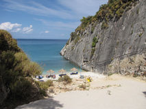 Xigia beach on Zakynthos view. Greece stock photo