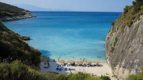 Xigia strand, Zakynthos ö, Grekland Arkivfoton