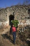Xigou wielkiego muru sceneria, ludowi zwyczaje zdjęcie stock