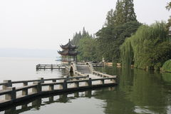 Xihu in Hangzhou of China. Xihu, a beautiful lake, is the main attraction of Hangzhou in China Stock Photos