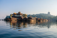 Xihu in Hangzhou of China. Xihu, a beautiful lake, is the main attraction of Hangzhou in China Royalty Free Stock Images