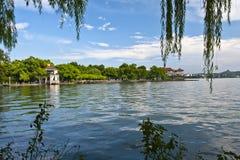 Xihu a Hangzhou della Cina Fotografia Stock