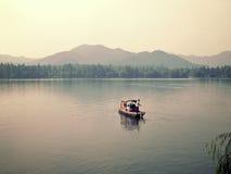 Xihu west lake in hangzhou china. Hangzhou is a city in zhejiang province china Stock Photo