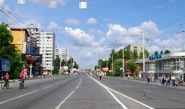 XII сибирский международный марафон, Омск, Россия 06 08 2011 Стоковое фото RF