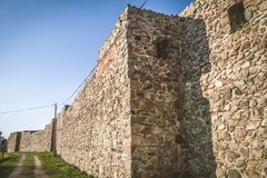 The XIII century defensive wall. In the city of Strzelce Krajenskie, western Poland Stock Images