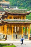 Wooden Covered Bridge Miao Village Xijiang China Stock Images