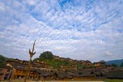 Xijiang Miao Minority Village Hill Houses Fotos de Stock
