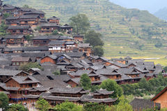Xijiang mil vilas do hmong dos agregados familiares Fotografia de Stock