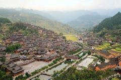 Xijiang mil vilas do hmong dos agregados familiares Imagem de Stock Royalty Free