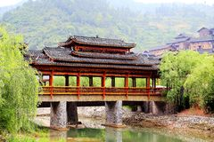 The Xijiang Qianhu Miao village. Is a place where the `primitive ecology` of the Miao nationality is preserved. It is the largest Miao Nationality Village in royalty free stock photo