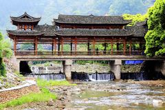 The Xijiang Qianhu Miao village. Is a place where the `primitive ecology` of the Miao nationality is preserved. It is the largest Miao Nationality Village in royalty free stock image
