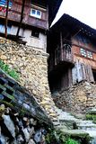 The Xijiang Qianhu Miao village. Is a place where the `primitive ecology` of the Miao nationality is preserved. It is the largest Miao Nationality Village in stock photography
