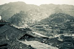 "Xijiang thousand family Miao village, Guizhou, China. [Feb. 2018] ""Xijiang Thousand-Family Miao Village"", which is located in Guizhou province, south royalty free stock photos"