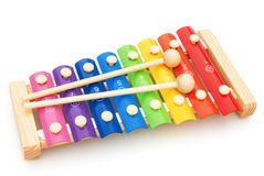 Xilófono colorido Foto de archivo libre de regalías