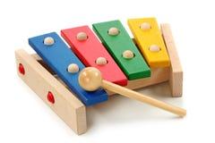 Xilófono colorido de madera Foto de archivo libre de regalías