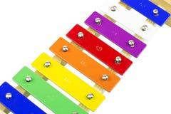 Xilófono colorido del niño Fotografía de archivo