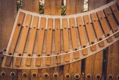 Xilófono de madera grande Imágenes de archivo libres de regalías