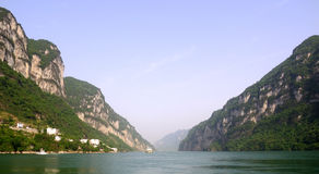 Xiling Gorge. Near the Three Travellers Cave Royalty Free Stock Images