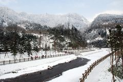 Xiling snow mountain. Is a national scenic resort, which lies in chengdu, Sichuan province,China Stock Photos