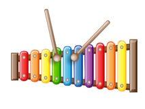 Xilofono del giocattolo colorato arcobaleno royalty illustrazione gratis