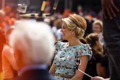Xima ¡ βασίλισσας MÃ των Κάτω Χωρών, βασιλιάς ` s ημέρα 2014, Amstelveen, οι Κάτω Χώρες Στοκ Φωτογραφίες