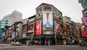 Ximen road in Taipei, Taiwan. View of the Ximen road in Taipei, Taiwan. Taipei is the political, economic, educational, and cultural center of Taiwan, and one of Royalty Free Stock Photo