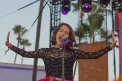 Ximena Sariñana, mexicansk sångare-låtskrivare och aktris under D royaltyfria bilder