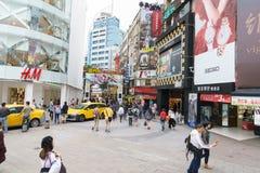 Ximending gatamarknad i Taipei, Taiwan Royaltyfri Foto