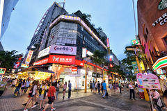 Ximending, Taipei. Ximending is a neighborhood and shopping district in the Wanhua District of Taipei, Taiwan. It was the first pedestrian zone in Taiwan Royalty Free Stock Image